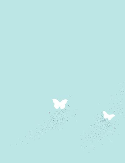 Faire-part de mariage Papillons (grand format) blanc et bleu - Page 2