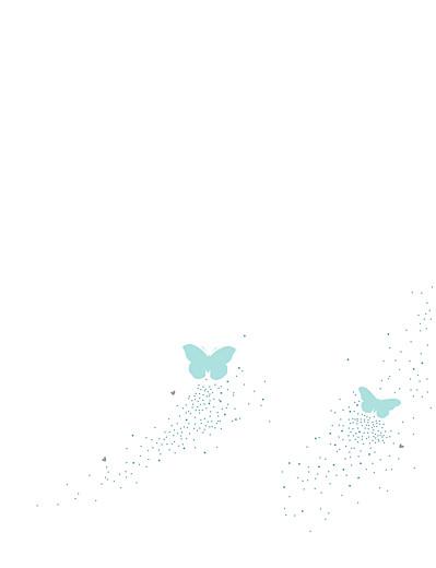 Faire-part de mariage Papillons (grand format) bleu & blanc - Page 2
