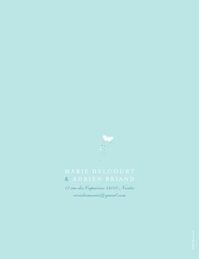 Faire-part de mariage Papillons (grand format) bleu & blanc