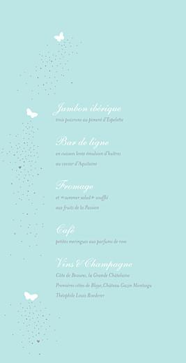 Menu de mariage Papillons (4 pages) bleu & blanc - Page 3