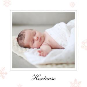 Faire-part de naissance Premiers flocons rose clair
