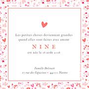 Faire-part de naissance Petit liberty coeur (triptyque) rose page 2