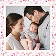 Faire-part de naissance Petit liberty coeur (triptyque) rose page 3