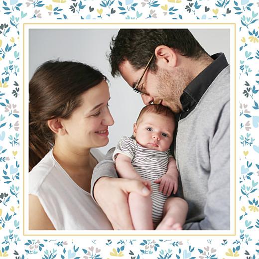 Faire-part de naissance Petit liberty coeur (triptyque) bleu - Page 3