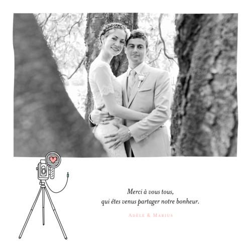 carte de remerciement mariage pictos corail et vert - Cartes De Remerciement Mariage