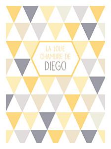 Affichette violet triangles jaune violet