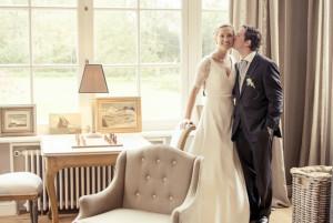 Carte de remerciement mariage Chic photo (paysage) orange