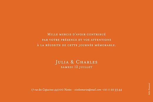 Carte de remerciement mariage Chic photo (paysage) orange - Page 2