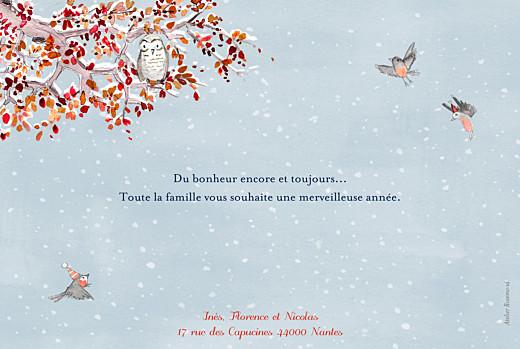 Carte de voeux Conte d'hiver bleu