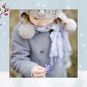 Carte de voeux Conte d'hiver (triptyque) bleu page 2