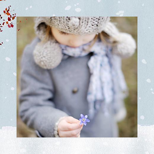 Carte de voeux Conte d'hiver (triptyque) bleu - Page 2