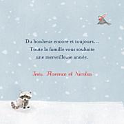 Carte de voeux Conte d'hiver (triptyque) bleu page 3