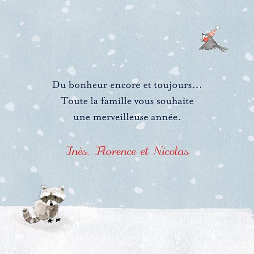 Carte de voeux Conte d'hiver (triptyque) bleu - Page 3