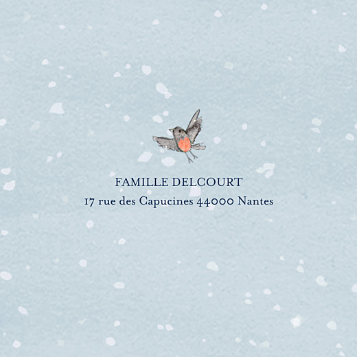 Carte de voeux Conte d'hiver (triptyque) bleu - Page 5