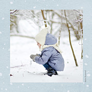 Carte de voeux Conte d'hiver (triptyque) bleu page 6