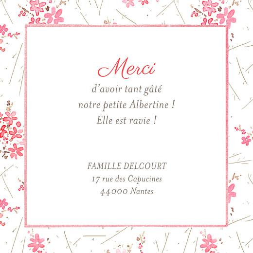 Carte de remerciement Petites fleurs des champs rose