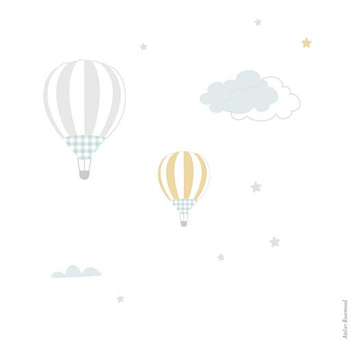 Faire-part de naissance Dans le ciel photo bleu