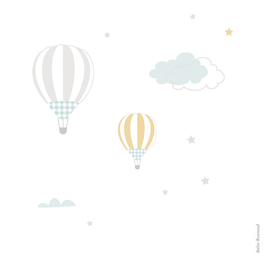 Faire-part de naissance Dans le ciel photo bleu - Page 4