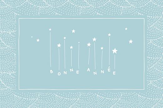 Carte de voeux Pluie d\'étoiles bleu glacier