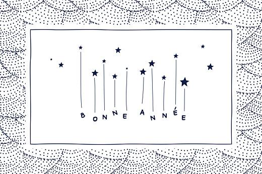 Carte de voeux Pluie d\'étoiles photo bleu nuit