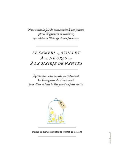 Faire-part de mariage Grand instant fleuri blanc - Page 2