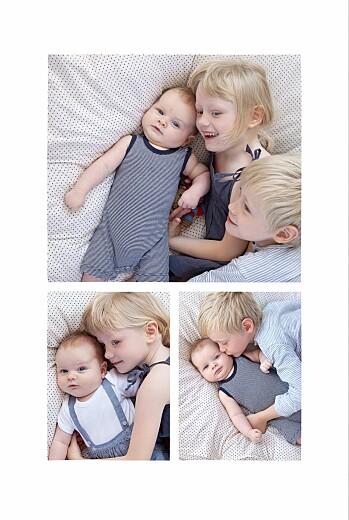 Faire-part de naissance Pictos ardoise 4 photos noir - Page 2