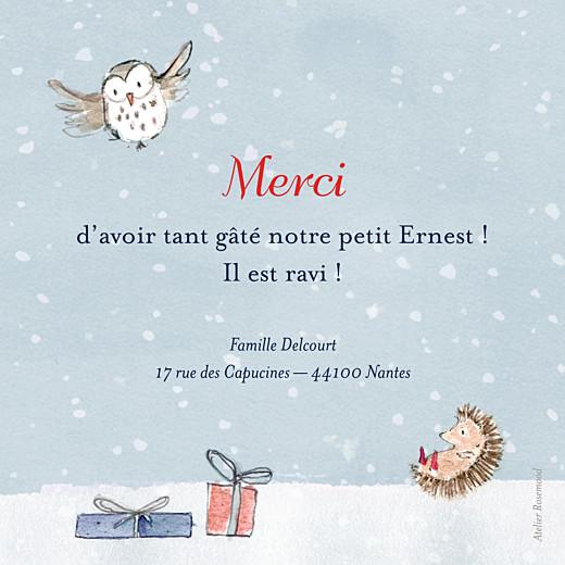 Carte de remerciement Petit conte d'hiver bleu - Page 2