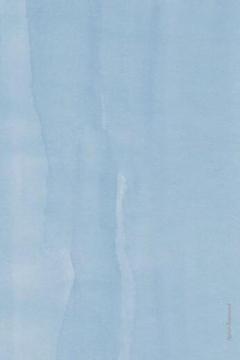 Faire-part de naissance Petit lapin portrait bleu - Page 4