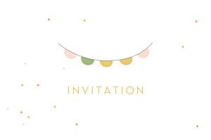 Carton d'invitation mariage rose les mariés blanc