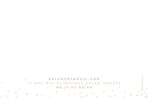 Carte de correspondance Confetti corail - Page 2