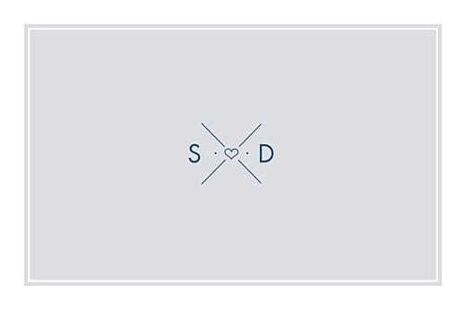 Carte de correspondance Croisette gris
