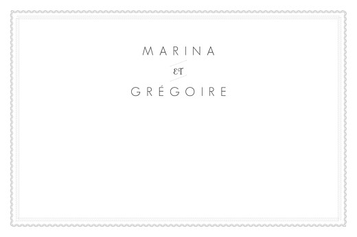 Carte de correspondance Design blanc