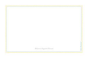 Carte de correspondance Liberty vert & jaune