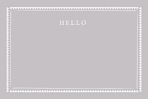 Carte de correspondance marron cadre zigzag taupe