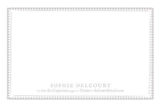 Carte de correspondance Cadre zigzag taupe - Page 2