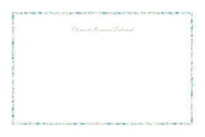 Carte de correspondance Liberty liseré bleu