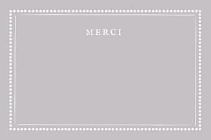 Carte de correspondance noir cadre pois taupe