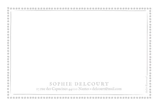 Carte de correspondance Cadre pois taupe - Page 2