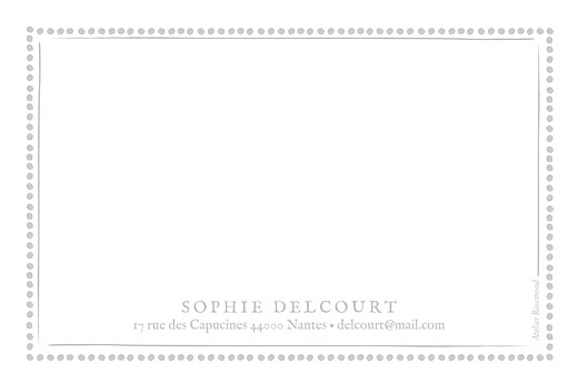Carte de correspondance Cadre pois taupe