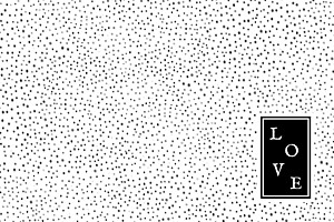 Carte de correspondance noir little dots noir & blanc