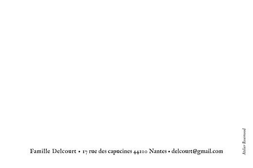 Carte de correspondance Little dots noir & blanc