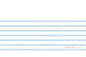 Carte de correspondance rouge marinière bleu