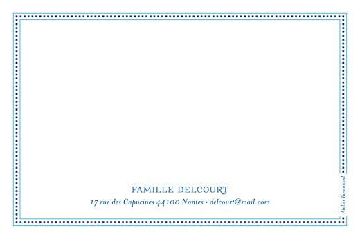 Carte de correspondance Nomade bleu & blanc - Page 2