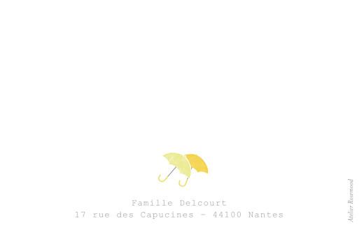 Carte de remerciement Balade jumeaux jaune - Page 2