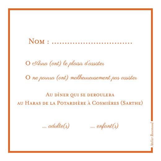 Carton réponse mariage Carré chic orange - Page 2