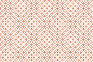 Carte de correspondance orange rosace orange