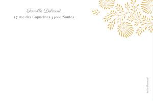 Carte de correspondance Idylle jaune