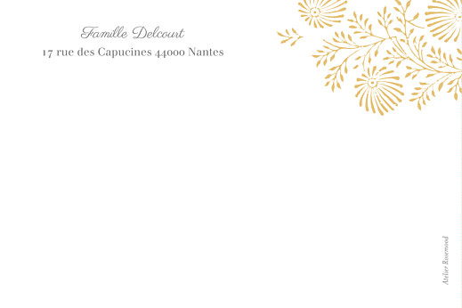 Carte de correspondance Idylle jaune - Page 2