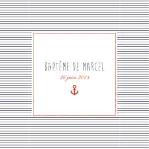 Faire-part de baptême Matelot bleu