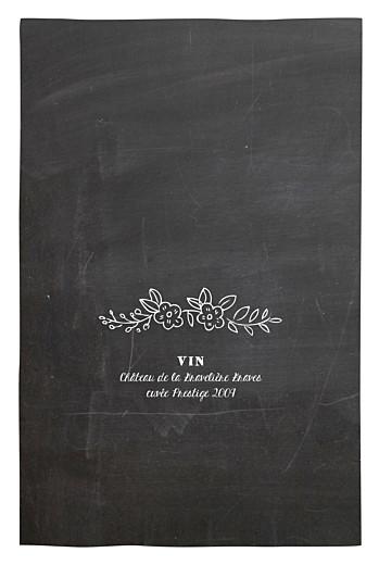 Menu de baptême Ardoise fleurs noir - Page 2